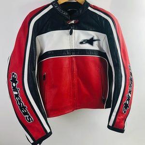 Alpinestars Jaws Leather Jacket SZ10 USA /46 EU